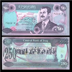 1995 Iraq 250 Dinars Crisp Circulated Note (CUR-05899)