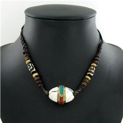 Tibet Shell Agate Bead Choker Necklace (JEW-3187)