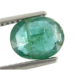 1.15ct Natural Green Zambian Emerald Oval (GEM-22889)