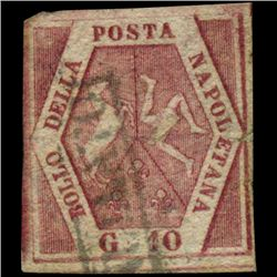 1858 Naples 10g Stamp (STM-0965)