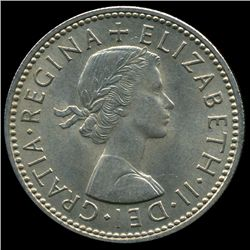 1959 British QE2 1 Shilling Rare Scottish Rev MS64 (COI-8955)