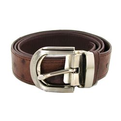 Brown Ostrich Belt 48  New (ACT-292)