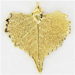 Gold Filled Cottonwood Leaf Pendant (JEW-3872)