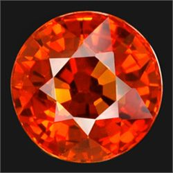 2.3mm Diamond Cut Top Orange Natural Sapphire AAA FLAWLESS (GMR-0205)