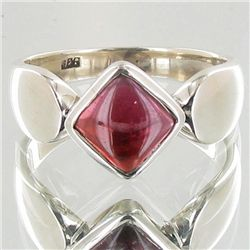 23.4twc Garnet Sterling Ring (JEW-3902)