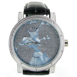 New Ice Time Mens Diamond Bezel Watch (WAT-350)