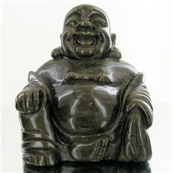 1800ct Handcarved Rainbow Obsidian Buddha (CLB-1072A)