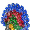 Image 2 : 1100ct. Peacock Statue Fancy Color Sapphire/Topaz (GEM-9747)