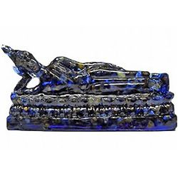 400.00ct. Blue Sapphire Reclining Buddha Statue (GEM-9738)