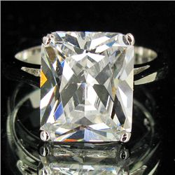 27.14twc Lab Diamond White Gold Vermeil/925 Ring (JEW-3979)
