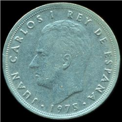 1975 Spain 5p ERROR AU/XF (COI-10344)