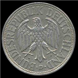 1962D Germany 1 Mark Hi Grade RARE (COI-8155)