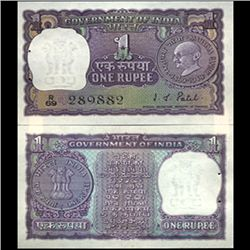 1969 India 1 Rupee Ghandi Anniv. Crisp Unc (CUR-06193)