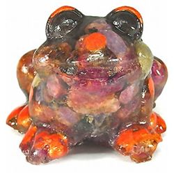 430.00ct Premium Natural Red Ruby Frog Statue (GEM-9735)