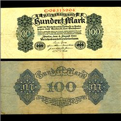1922 Germany 100 Mark Note Better Grade (CUR-06658)