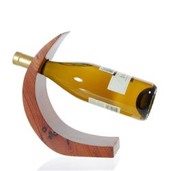 Black & White Ebony Wine Holder (DEC-034)