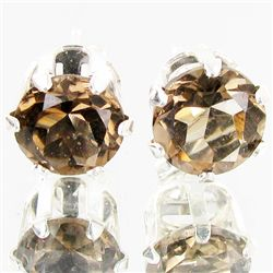 6.92twc Smokey Quartz Sterling Earrings (JEW-2636)