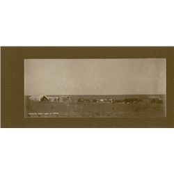 "L.A. Huffman, Webster Bros Camp at Noon, VCP, 9 1/4"" x 3 7/8"""