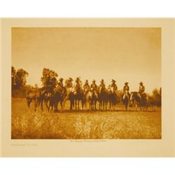 "Edward Curtis, Apsaroke Youths, Original PG, plate size 6 1/4"" x 8 3/4"""