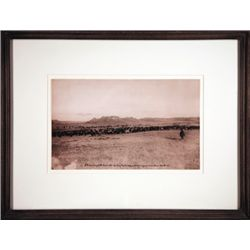 "L.A. Huffman, Evening at the Round Up, Collotype, 1905, 11 3/8"" x 7"", framed"
