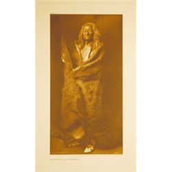 "Edward Curtis, Black Eagle-Assini, Giclee, edition 3/500, 10 1/8"" x 19 9/16"""