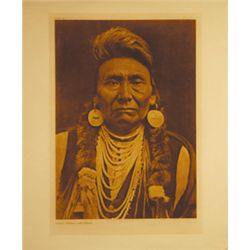 "Edward Curtis, Chief Joseph-Nez, Photo Gravure, edition 12/250, 1908, 12 1/4"" x 17 5/8"""