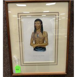 McKenney & Hall, Wa-Bish-Kee-Pe-Nas, Hand Colored Lithograph, archivally mounted with French rag mat