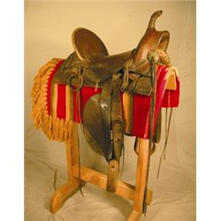 Frontier saddle, no maker's mark, 1890's