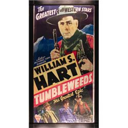 Astor Picture Corp., movie poster, William S. Hart in Tumble Weed MP, 1925, Chromolithograph, 3-shee