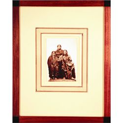 "L.A. Huffman, Sioux Chief Buffalo Hump and his Favorite, VCP, 3 3/4""  x 5 3/8"", framed"