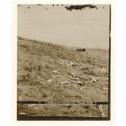 "L.A. Huffman, Graves of Unknown Custer Battlefield #2, VCP in 100% rag book mat, 4"" x 5"""