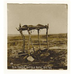 "L.A. Huffman, A Sioux Warrior Grave #153, VCP in 100% rag book mat, 3 5/8"" x 4"""