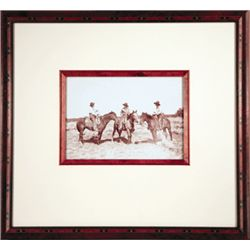 """L.A. Huffman, A Typical Trio, VCP, 1895, 7 1/2"""" x 5 1/4"""", framed"""