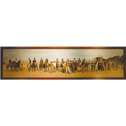 "First Annual Round Up, Northe Platte, NE, 1919, HC, 22""h x 96""w"