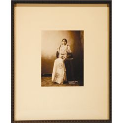 "Frank Fiske, Unidentified Woman, Posthumously printed from original plates, 6 1/4"" x 8"", framed"