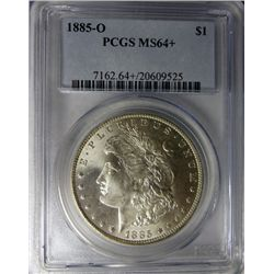 1885-O MORGAN DOLLAR PCGS MS64+