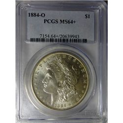 1884 O MORGAN DOLLAR PCGS MS64+
