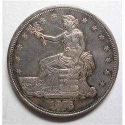 1876 Trade Dollar, Nice AU Popular Centennial Year