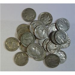 100 readable date Buffalo nickels, good mix. no junk.