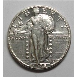 1926D  Standing Liberty quarter  strong AU
