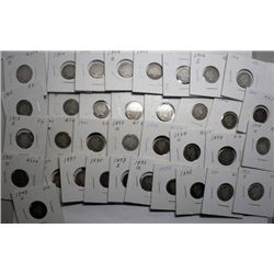 35 different barber dimes avg good:1892-93-93POS-95-97PO-