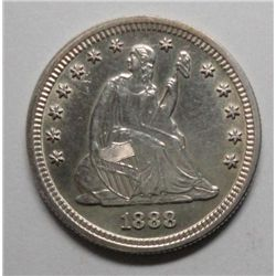 1888S   Seated quarter   MS61/63