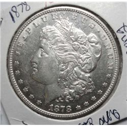 1878  7/8 F Morgan $  solid AU