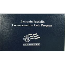 2006 BENJAMIN FRANKLIN   FOUNDING FATHER' COMMEMORATIVE UNC. SILVER DOLLAR