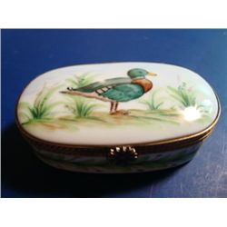 Authentic hand painted porcelain Limoges box signed