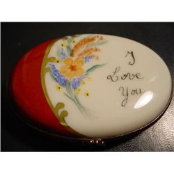 Authentic I love you porcelain Limoges box signed