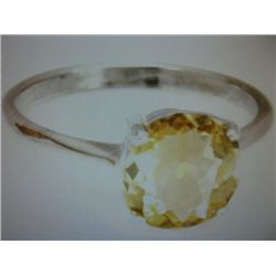 Natural Yellow 1.1 ctw Citrine Solitaire Ring