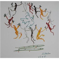 Pablo Picasso lithograph titled Dance of Peace