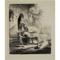 Rembrandt THE GOOD SAMARITAN Etching