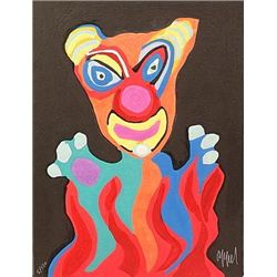 Clown by Karel Appel 31x25 Signed and Numbered